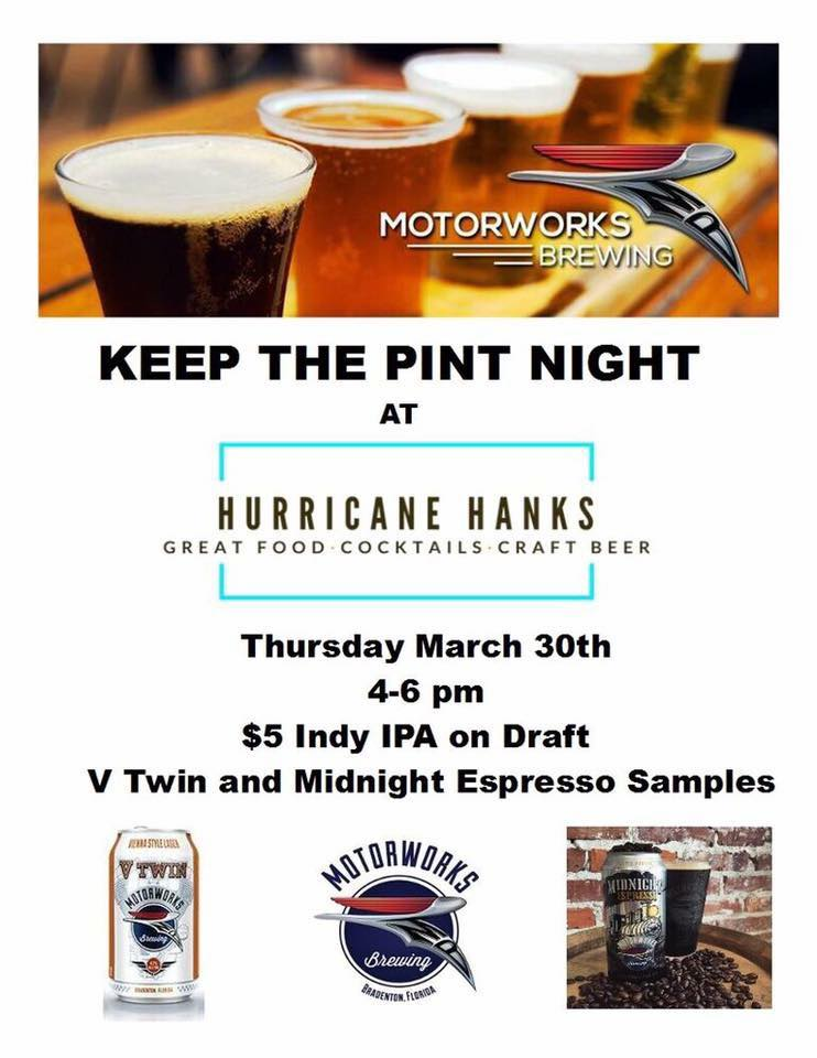 Keep the Pint Night - Thursday March 30th